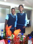 Two Proud Girls from the Winning School